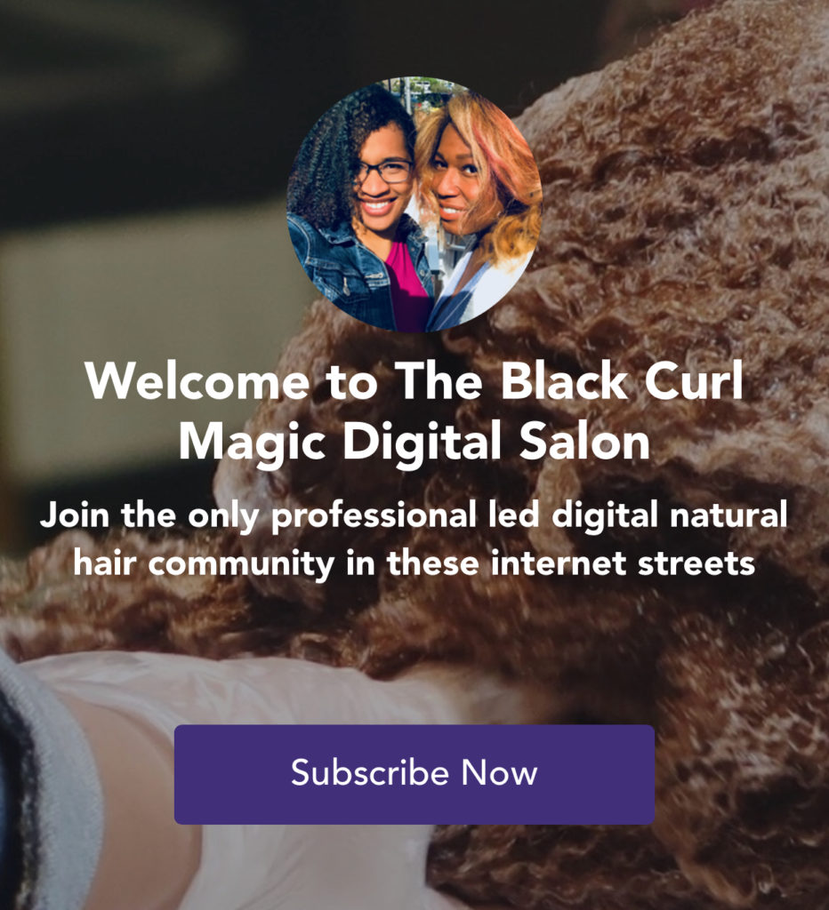 Black Curl Magic Digital Salon Graphic
